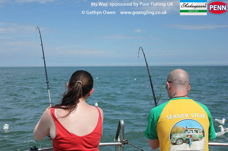 Double spurdog for angling couple Kass and Dave